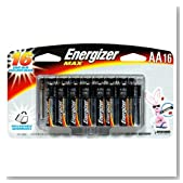 Energizer E91BP-16H Max AA Alkaline Battery (16 Pack)