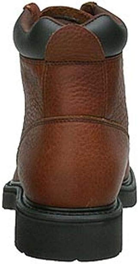Work America Mens 6 Brawny Leather Work 10 E US Brown