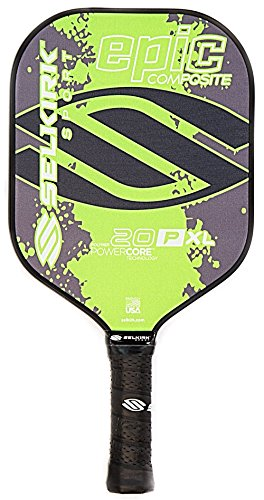 Composite Core - Selkirk Sport 20P Epic Polymer Honeycomb Core Composite Pickle Ball Paddle, Lime Green, X-Large
