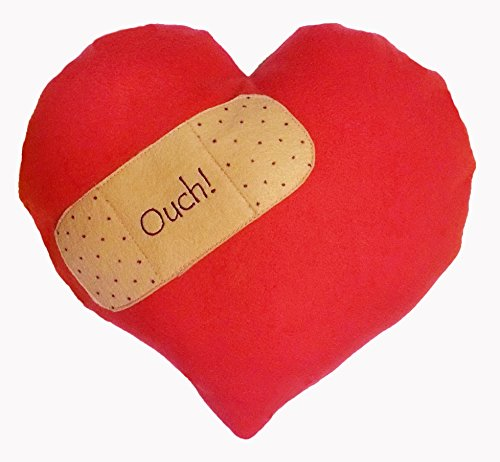 Get Well or Break Up Pillow - OUCH! Red Heart Fleece, Handmade