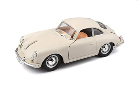 Amazon Com 1961 Porsche 356 B Coupe Ivory 1 24 Diecast Model Car