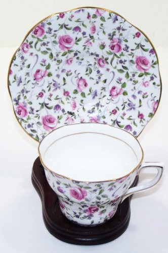 Rosina Bone China Cup (Vintage Queens Pattern By Rosina Bone China Cup And Saucer)