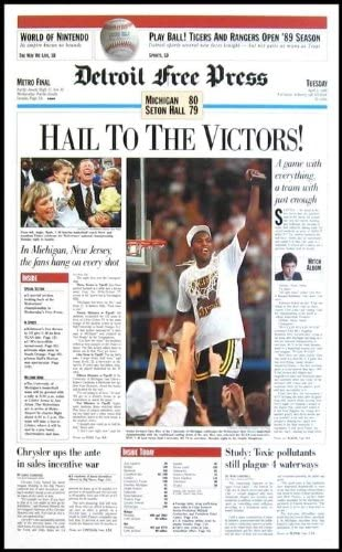 Amazon Com Hail To The Victors 1989 Michigan Wolverines Free Press Poster Sports Collectibles
