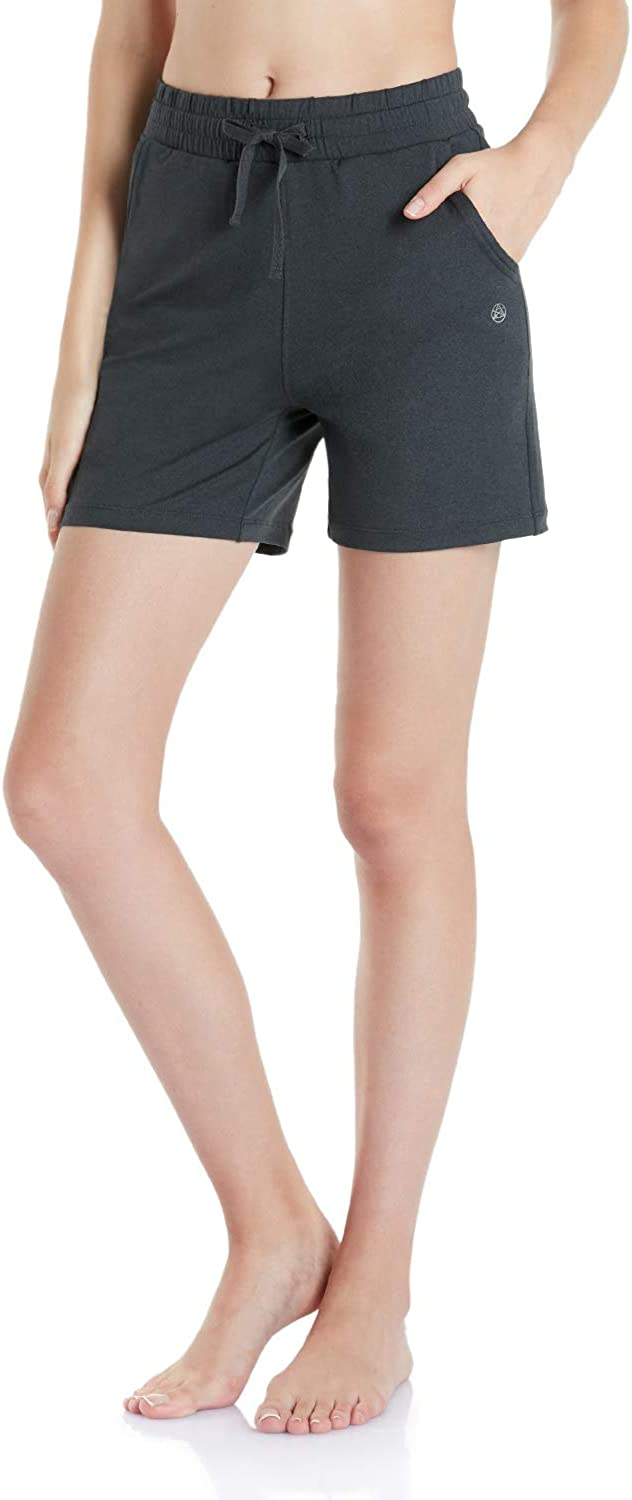 TSLA Loungewear 5 inches Shorts Comfy Soft Peachskin Leisure Casual Yoga Active with Pockets