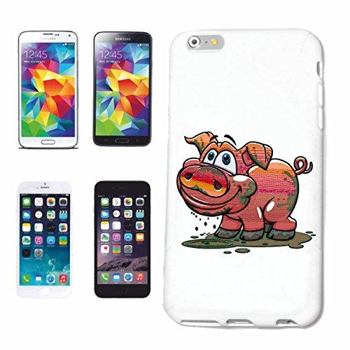 """cas de téléphone iPhone 7 """"LUCK PIG domestique PIG BOAR PIGLET PIG BBQ LUCK PIG domestiques PIG SANGLIER PORCELETS"""" Hard Case Cover Téléphone Covers Smart Cover pour Apple iPhone en blanc"""