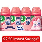 Air Wick Baby Magic Clean Baby Freshmatic Ultra Spray, Pack of 4