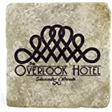 The Shining: The Overlook Hotel Marble Tile Drink Coaster (Silver Shadow) by Arcane Store