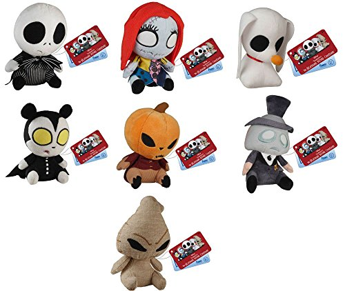 Nightmare Before Christmas Jack Skellington, Sally, Zero, Vampire Teddy, Mayor, Pumpkin King, Oogie Boogie Mopeez Plush Set of 7