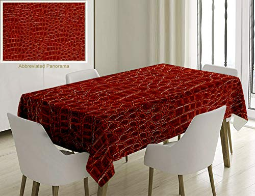 Unique Custom Cotton And Linen Blend Tablecloth Animal Print Collection Crocodile Skin Designer Purse Shoes Boots Material High Fashion Themed Art BroTablecovers For Rectangle Tables, 70 x 52 Inches