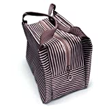 Changeshopping Women Portable Insulated Thermal Cooler Lunch Box Tote Bag Travel Picnic (Khaki)
