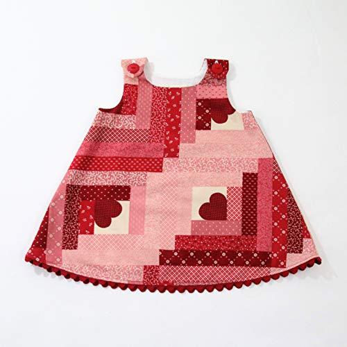 - Patchwork Heart Pink & Red Baby Girls Dress, Newborn Dress Sizes Newborn to 18-24 Months, Sundress, Pinafore, A-line Sleeveless, Frock, Handmade in the USA by April Scott Kids