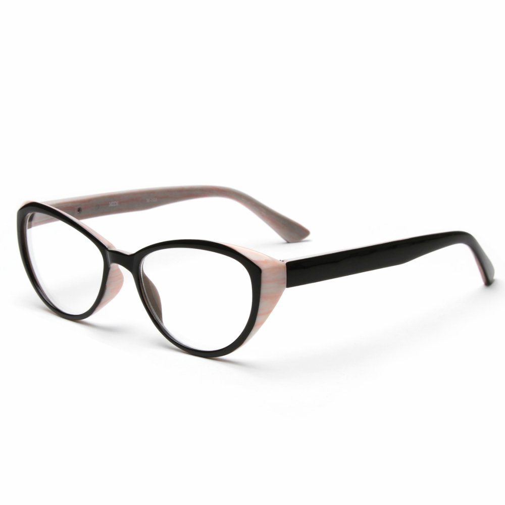 MIDI Cat Eye Vintage Reading Glasses for Women (M-103) Designed in Japan / Fine Spring Hinge for Comfort fit / Available in 3 Chic Colors (+1.25, Pink) by MIDI (Image #2)