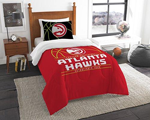 The Northwest Company Officially Licensed NBA Atlanta Hawks Reverse Slam Full/Queen Comforter and 2 Sham (Atlanta Hawks Bag)