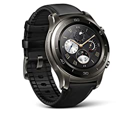 Huawei Watch 2 smart Watch integrates cutting-edge technology with the look of a Classic sports Watch. Designed to work in harmony with your smartphone or Independently, new features include: standalone GPS navigation, professional running Co...