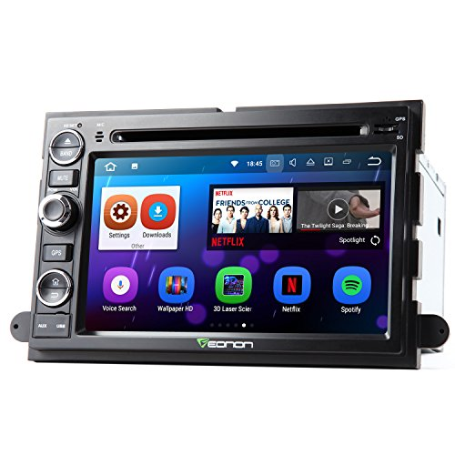 Eonon GA8173 Car Stereo Radio Audio Android 7.1 Quad Core 2GB RAM Car GPS Navigation 7 Inch for Ford F150 2005,2006,2007 and 2008 In Dash Touch Screen with Bluetooth Head Unit (Ford Units Head)