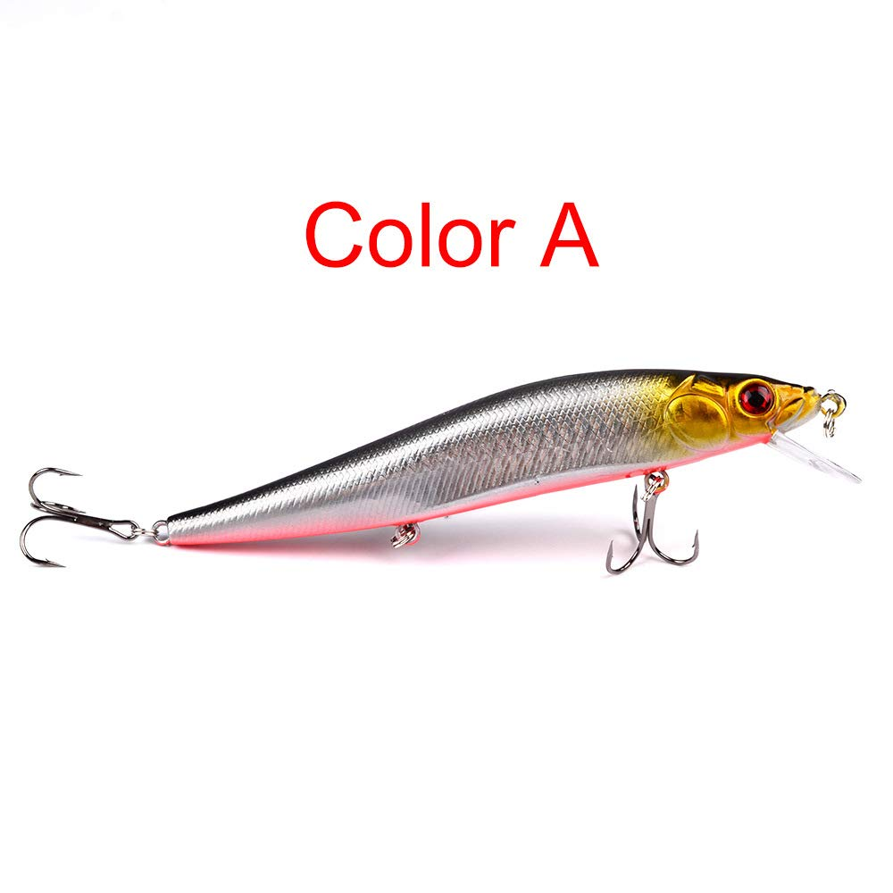 maxgoods 1PC Minnow Fishing Lures 14cm/23g Plastic Hard Bassbaits Fishing Tackle (A)