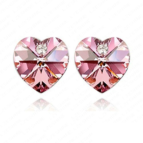 18K Gold Plated Womens Girls Earrings Pink - Aooaz Jewelry