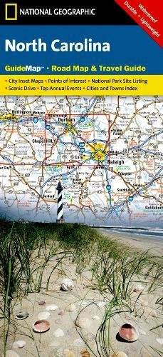 North Carolina (National Geographic: Guide Map)