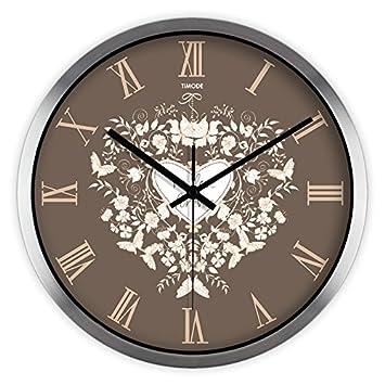 """Silenciar continental relojes arte vivo, creativo y elegante jardín reloj de cuarzo de 14"""""""