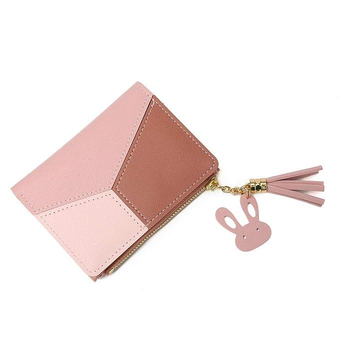 Amazon.com: Monedero de piel para mujer, pequeño y corto ...