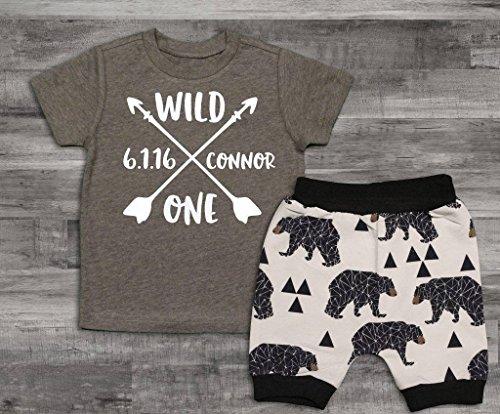 Baby Boy Clothes Wild One Birthday Boy Shirt,Wild One Birthday, 1st Birthday Top, First Birthday Shirt, First Birthday Boy Shirt by Oliver and Olivia Apparel