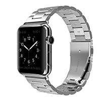 Apple Watch Band Stainless Steel Metal Watch Strap Replacement Bracelet for Apple iWatch (V-Silver-42)