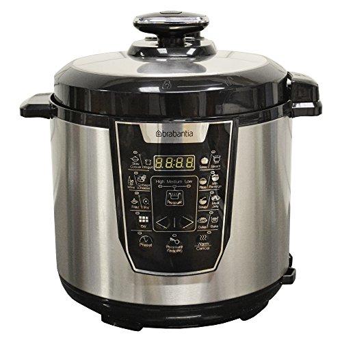 Brabantia BBEK1087 Electric Pressure Cooker, 6 Litre, 900 W, Stainless Steel