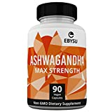 EBYSU Ashwagandha Capsules - 1300mg Max Strength - Supplement Supports Stress Relief