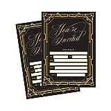 50 Fill In Invitations, Great Gatsby Wedding Invitations, Bridal Shower ...