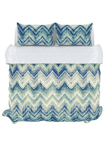 Stylemaster Home Products Colorfly Germain 210 Thread Count Duvet Cover Set, King, Sea Glass by Style Master