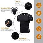 Niksa-2-Pezzi-Fitness-T-Shirt-Maglia-Compressione-Uomo-Maniche-Corte-Asciugatura-Rapida-Maglia-da-Sport-per-Corsa-Palestra