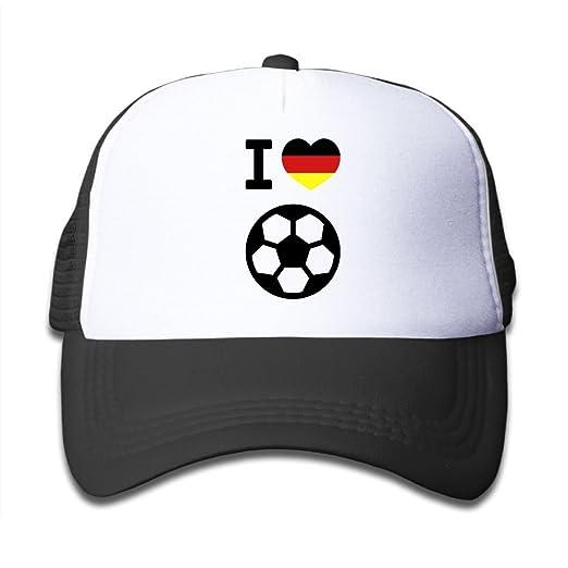 bd7612968f0 Hanfjj Kefdk I Love German Soccer Trucker Cap with Adjustable Kids Baseball  Hat Boys and Girl