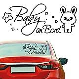 Wandtattoo Loft 'Autoaufkleber Baby an Bord' Fahrzeug - Aufkleber / 54 Farben / 2 Größen / pink / 15 x 36 cm