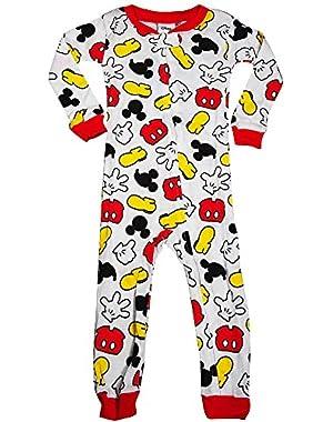 Little Boys Long Sleeve Mickey Mouse Romper