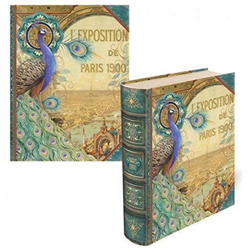 Punch Studio Keepsake Nesting Book Box Paris Exposition 1900 Medium 68667