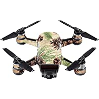 Skin For DJI Spark Mini – Pine Collage | MightySkins Protective, Durable, and Unique Vinyl Decal wrap cover | Easy To Apply, Remove, and Change Styles | Made in the USA