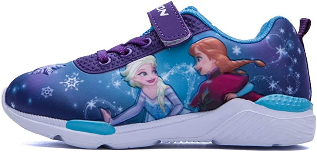 ANKIDS Kids Printed Frozen Sneakers Girls Toddler Soft Bottom Shoes