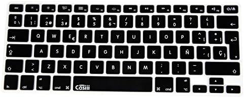 casiii español inglés Ultrafino Macbook Teclado de Silicona para MacBook, MacBook Pro, MacBook Air, y iMac, 13, 15, y 17 Pulgadas, con/sin Pantalla Retina