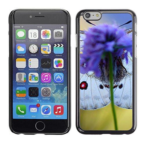 """Premio Sottile Slim Cassa Custodia Case Cover Shell // V00002995 papillon bleu sur une fleur // Apple iPhone 6 6S 6G 4.7"""""""