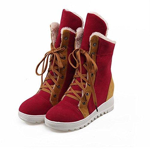 aiuto alta stivali stivali anteriore Rosso HDonne cintura Cammello cucitura di H gomma Nero red pendii resistenza neve 39 invernali e blu XIAOGANG usura TRFnqxS