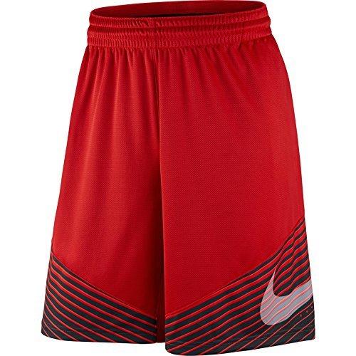 Nike Mens Elite Reveal Basketball Shorts University Red/Black 718386-657 Size Large