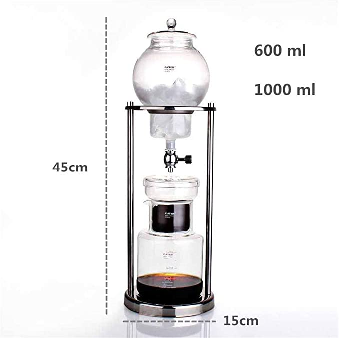 Cafetera Cold Brew Dripper de 600 ml con filtro de cristal, Cold ...