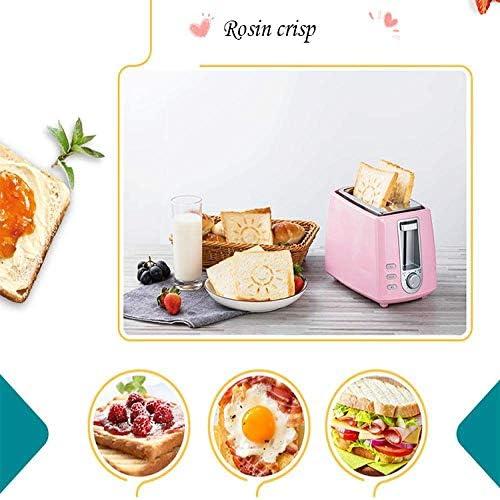Nfudishpu Grille-Pain électrique en Acier Inoxydable ménage Automatique Cuisson Machine à Pain Machine à Petit déjeuner Toast Sandwich Gril Four 2 tranches Cuisine, Cuisine