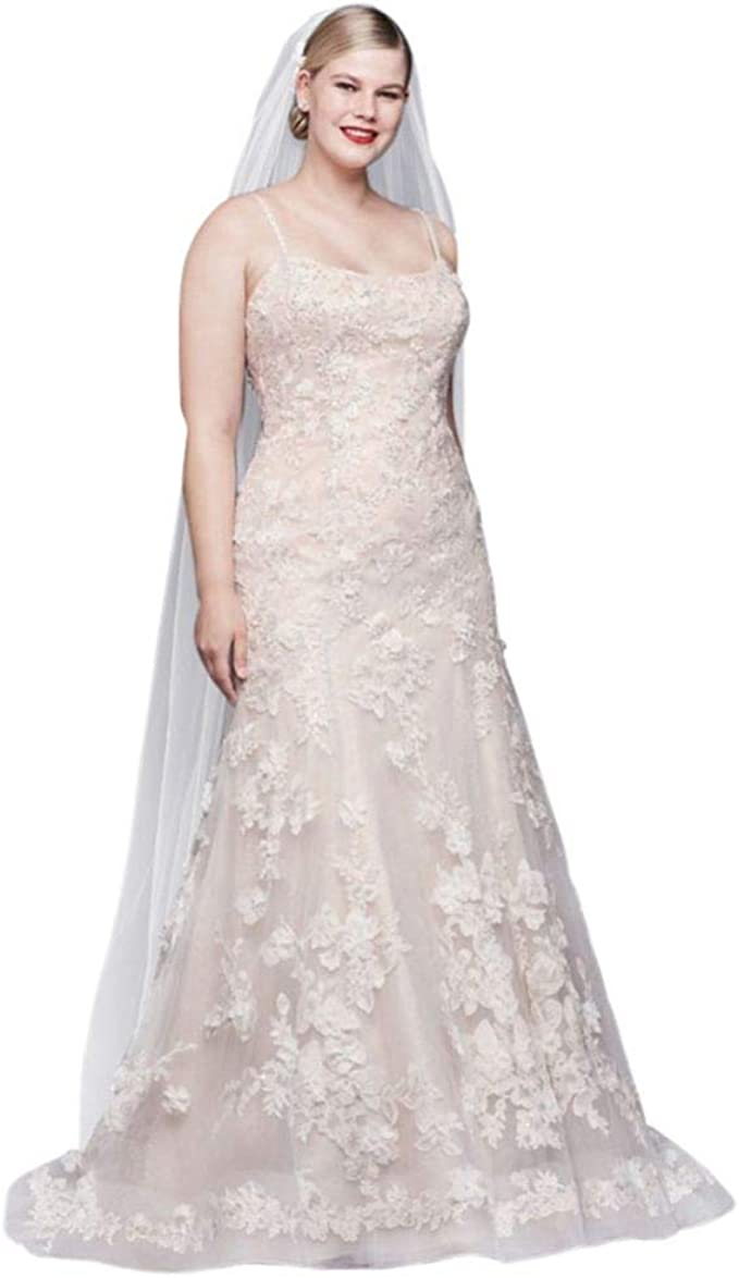 Ballerina Bodice 3D Floral Plus Size Wedding Dress Style ...