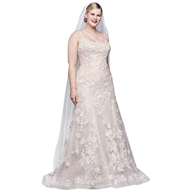 Ballerina Bodice 3D Floral Plus Size Wedding Dress Style 8CWG814 at ...