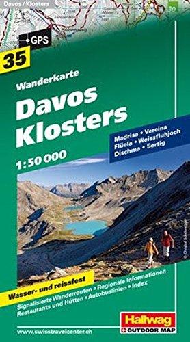 Wanderkarte Davos - Klosters 1:50 000, Bl. 35, wasser- und reißfest (Hallwag Wanderkarten)
