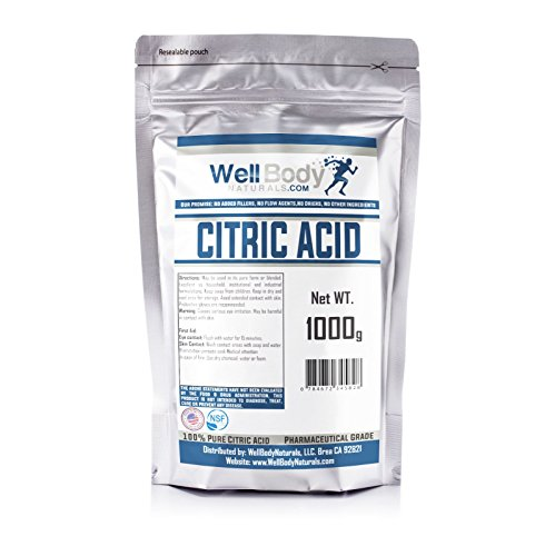 Citric Acid Powder - Fine Granular - 100% Pure Anhydrous - Pharmaceutical Grade Quality 1 (Anhydrous Vitamin)