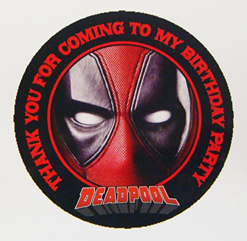 12 Deadpool Birthday Party Favor Stickers (Bags Not
