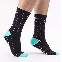 TAOHOU DH04 Calcetines de Ciclismo al Aire Libre Hombres Mujeres Transpirables Calcetines Deportivos Calcetines de Baloncesto Negro y Rosa