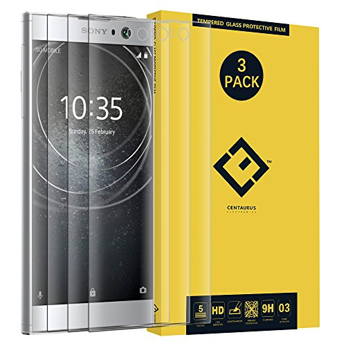 (3 Pack) Compatible with Sony XA2 Ultra Screen Protector, [3D Curved] [Ultra-Thin] [Full Coverage] 0.3mm Clear Tempered Glass Protective Film fit Sony Xperia XA2 Ultra H4213 H4223 H3223 H3213/SM22 6.0 ()